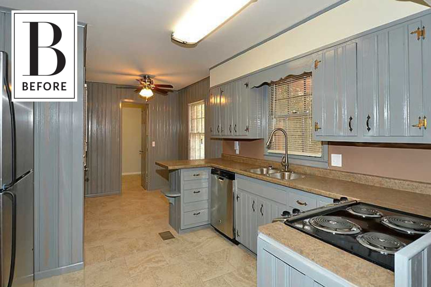 Before & After: An Outdated Kitchen Bids Goodbye to Blue