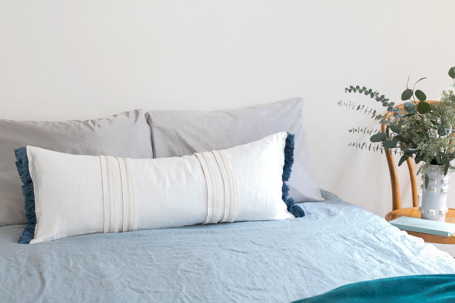 Make a Stylish Lumbar Pillow in 3 Easy Steps (No Sewing Required)