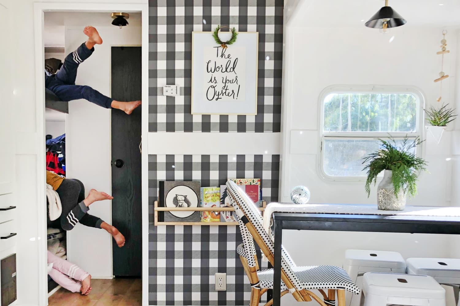 A Family of Five Shares a Small, Stylish 180-Square-Foot RV