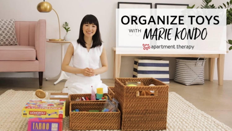 Watch Marie Kondo Organize a Messy Kids' Toy Area