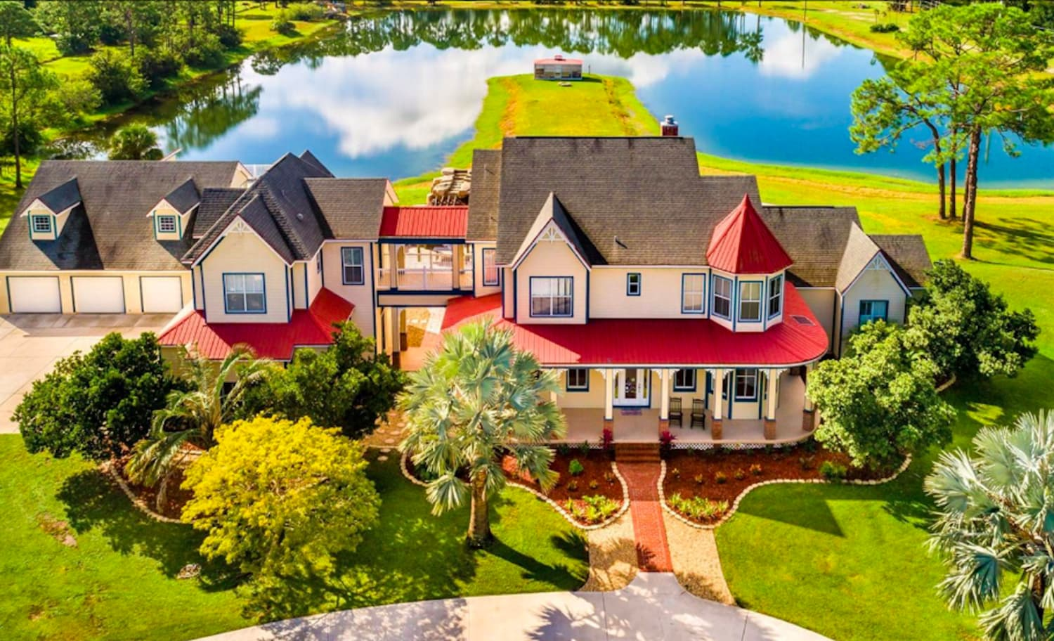 You Can Buy This Disney-Themed House with 2 Massive Mickey Mouse Pools for $850K