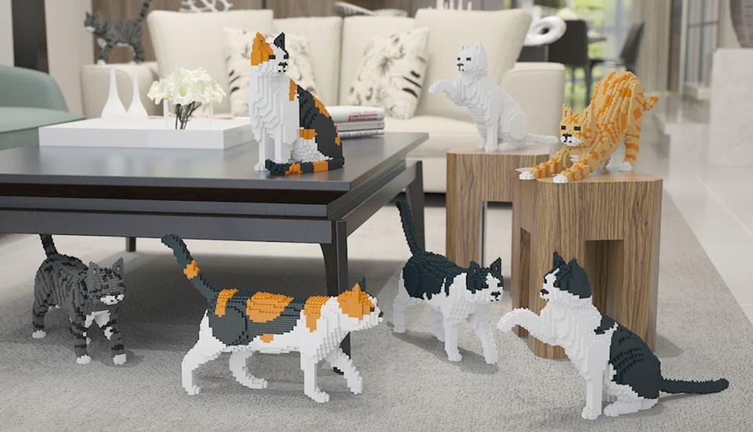 You Can Build Your Own Life-Size Cat Using These Blocks