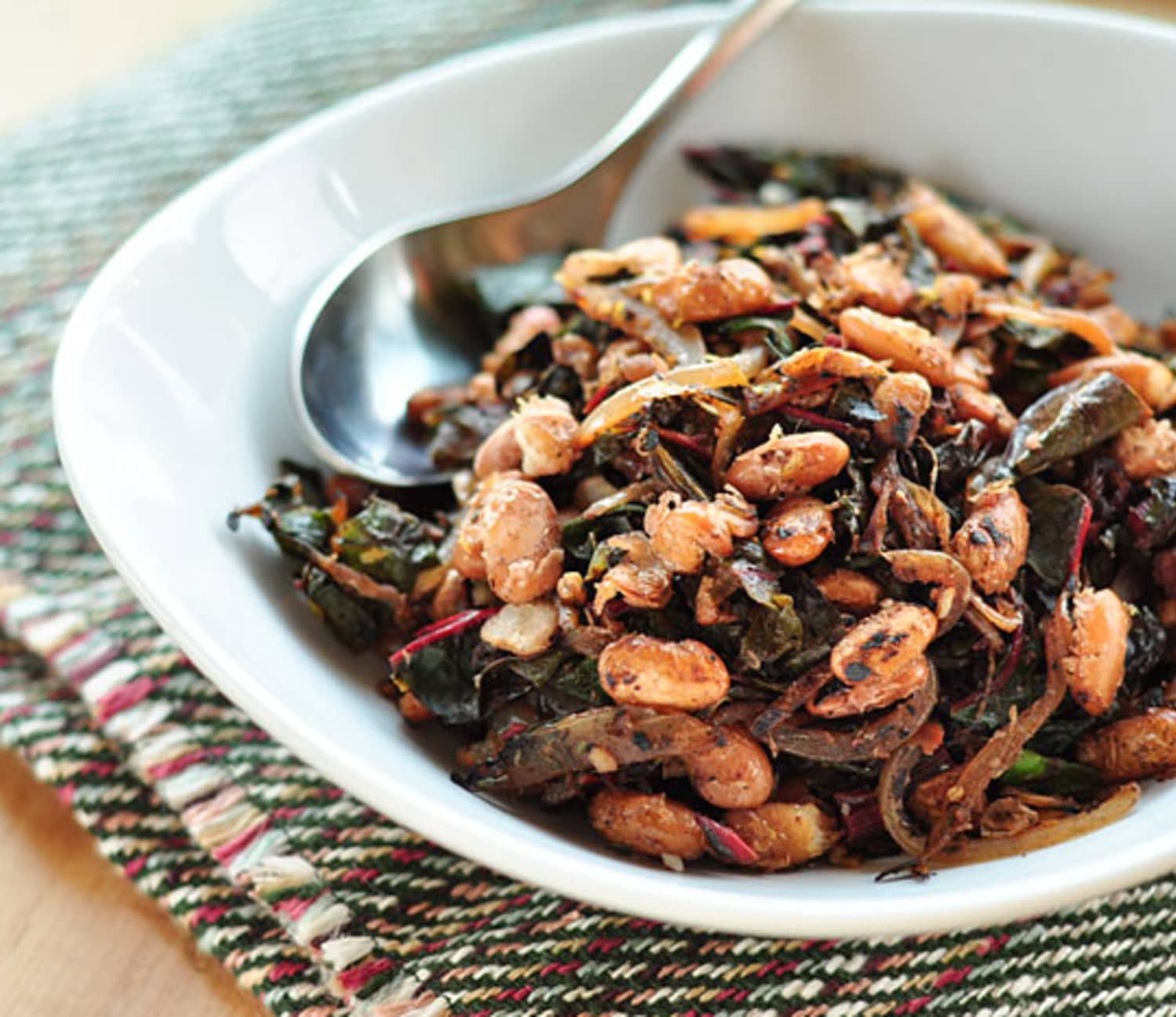 Recipe: Crispy Pan-Fried Beans with Wilted Greens