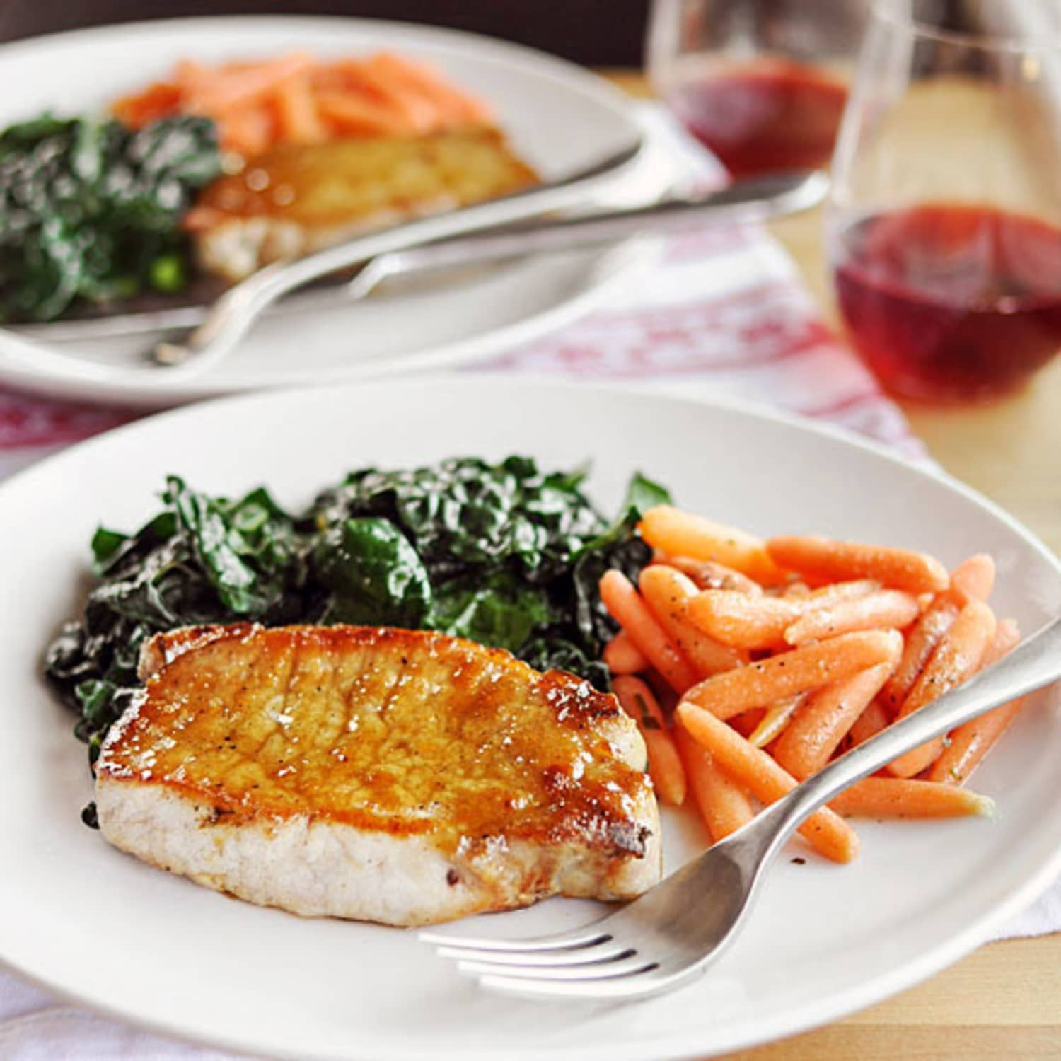 Dinner-for-Two Recipe: Sage-Brined Pork Chops with Brown Sugar Glaze