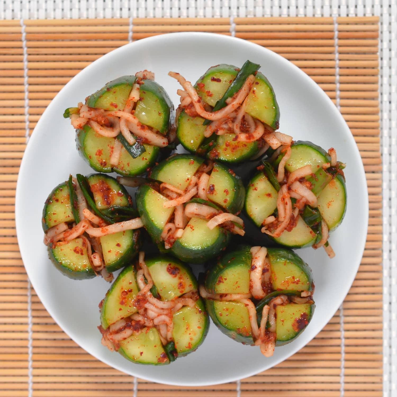 Recipe: Cucumber Kimchi Bites