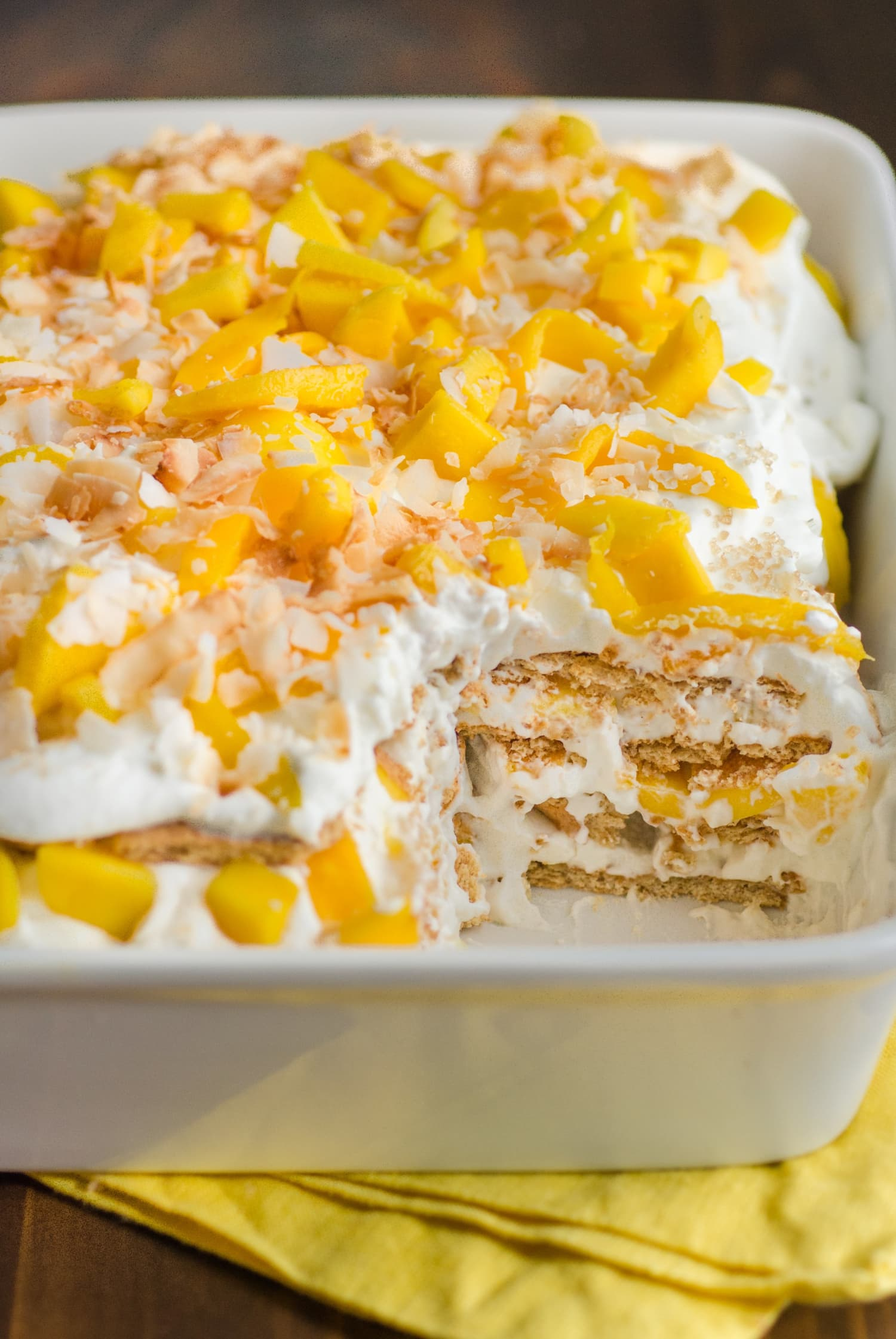 If You Make One Dessert This Month, Make This Mango Coconut Icebox Cake