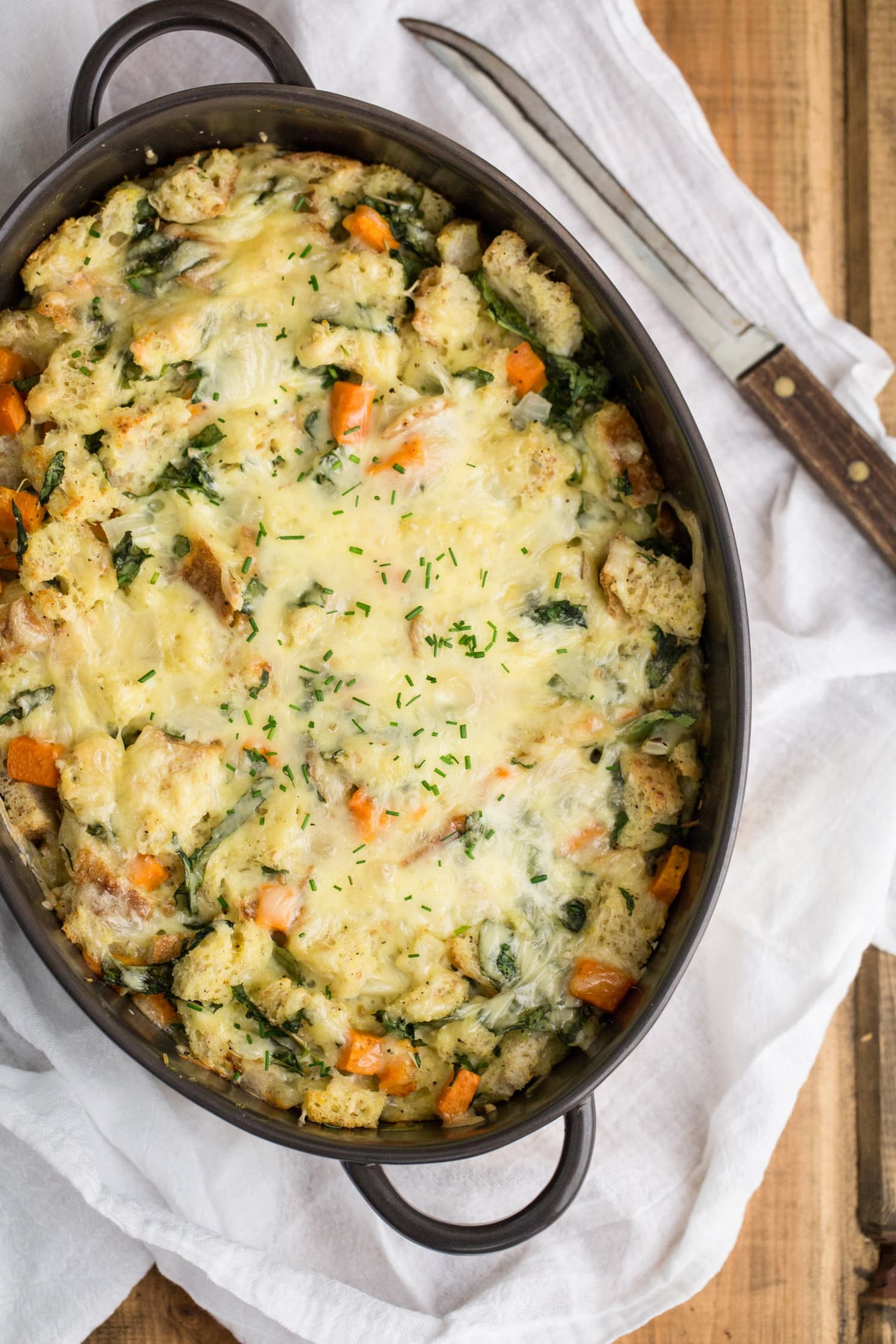 Recipe: Sweet Potato & Spinach Breakfast Strata