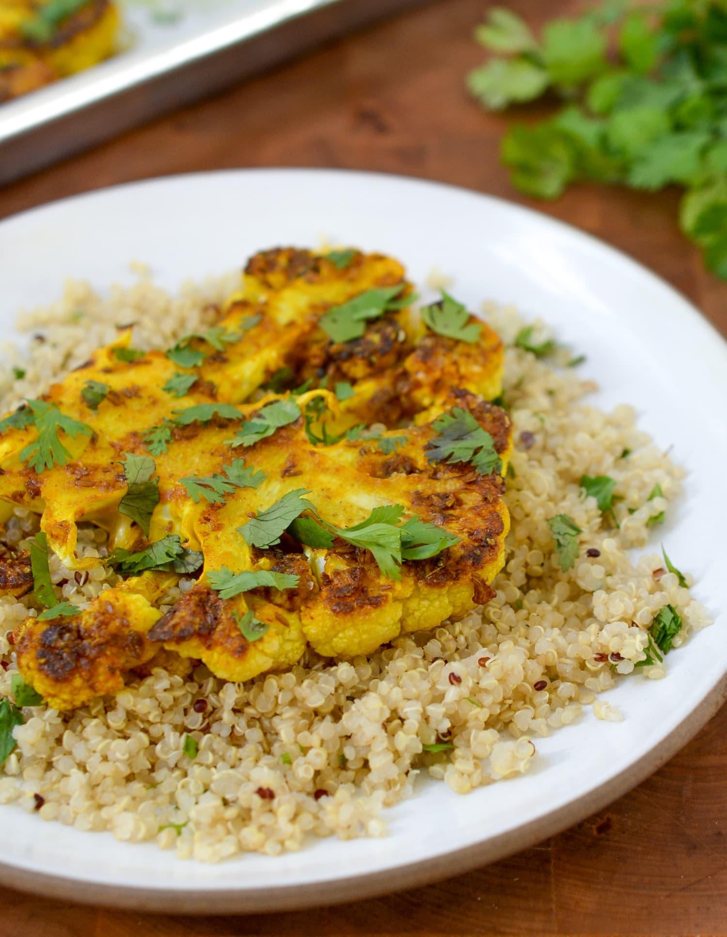 Recipe: Cauliflower Steaks with Ginger, Turmeric, and Cumin