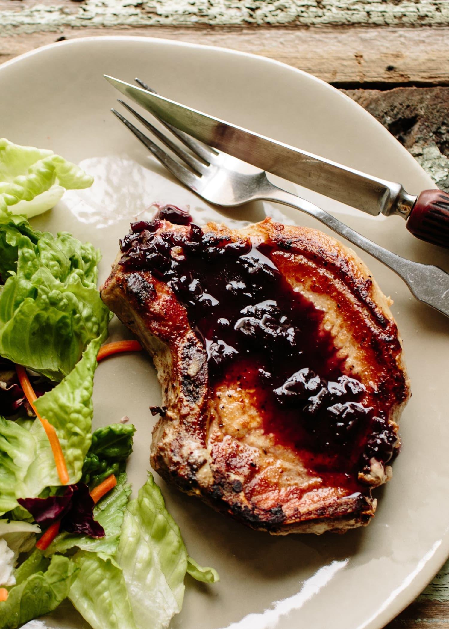 Recipe: Pork Chops in Port Wine Sauce