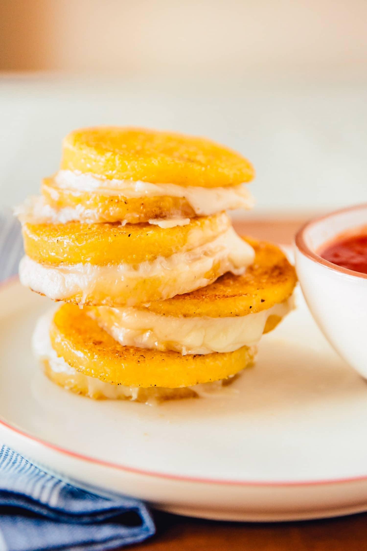 Recipe: Mini Polenta Grilled Cheese Bites with Marinara