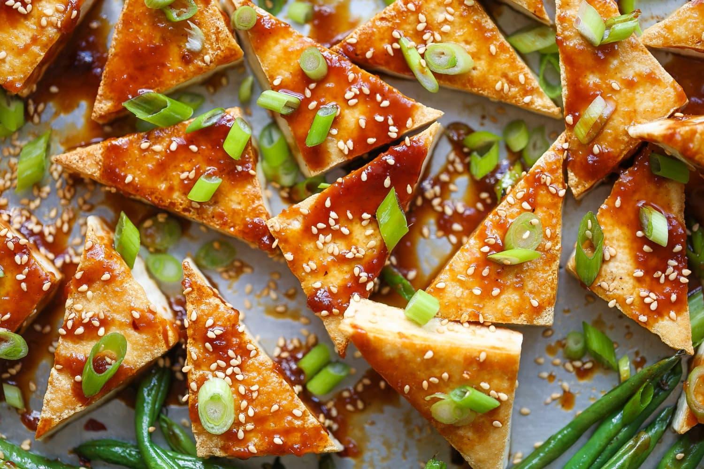 Recipe: Sheet Pan Honey-Sesame Tofu and Green Beans