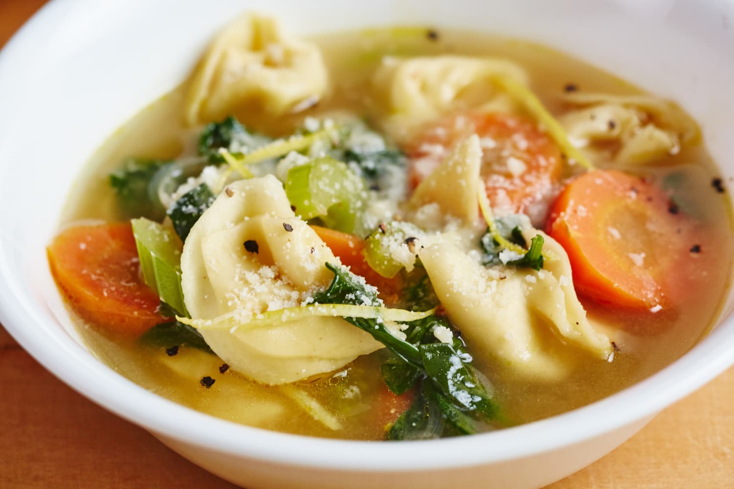 Lemony Tortellini Spinach Soup Is Hearty Yet Bright