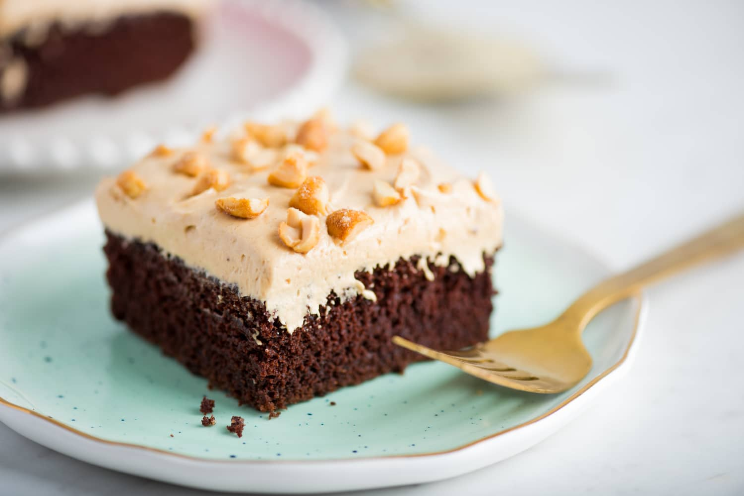 Recipe: Chocolate Sheet Cake with Honey-Roasted Peanut Butter Frosting