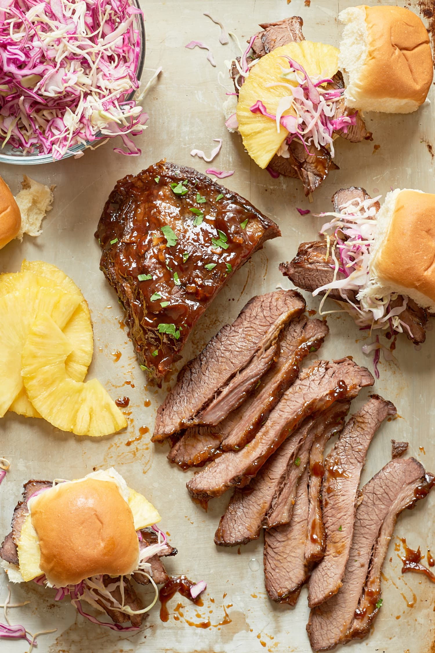 Recipe: Slow Cooker Hawaiian Brisket Sandwiches