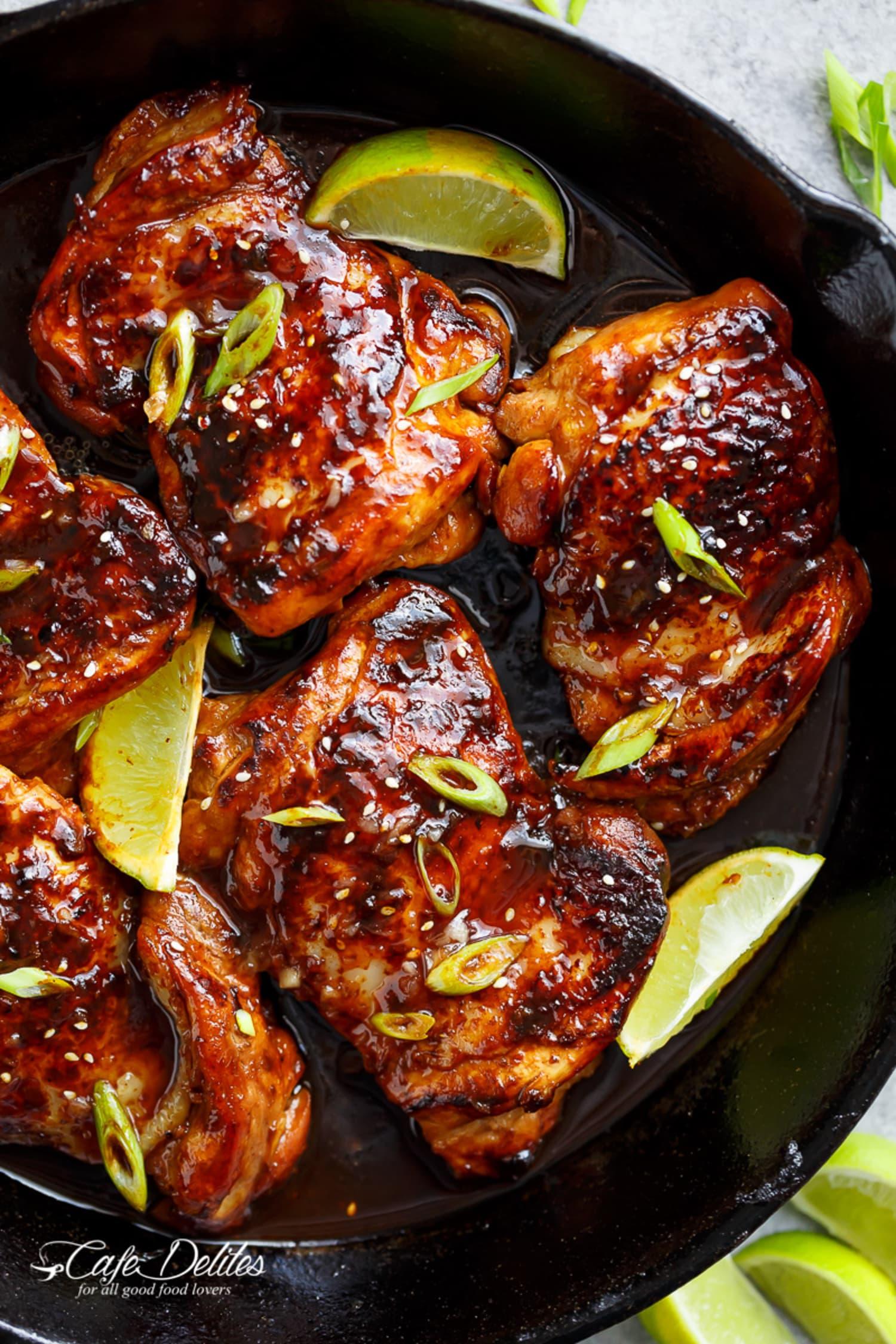 Make These Spicy Honey-Garlic Chicken Thighs Tonight