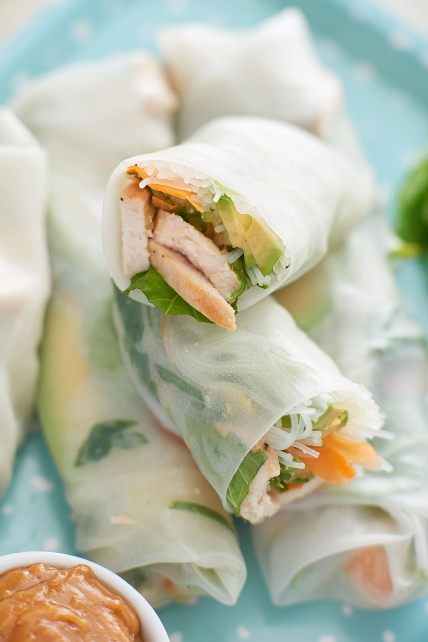 Recipe: Chicken Summer Rolls with Peanut Dipping Sauce
