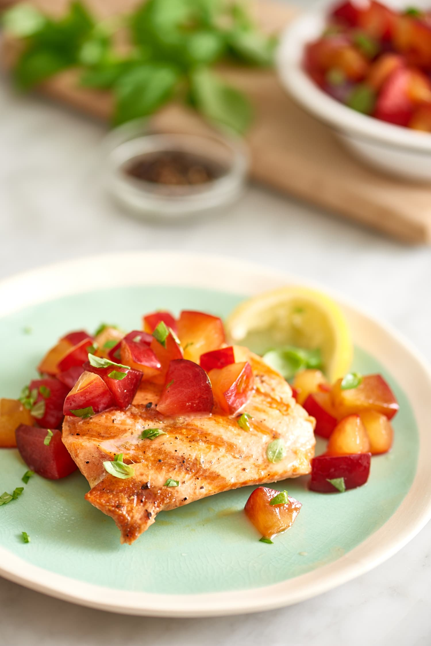 Recipe: Easy Grilled Salmon with Plum-Basil Relish