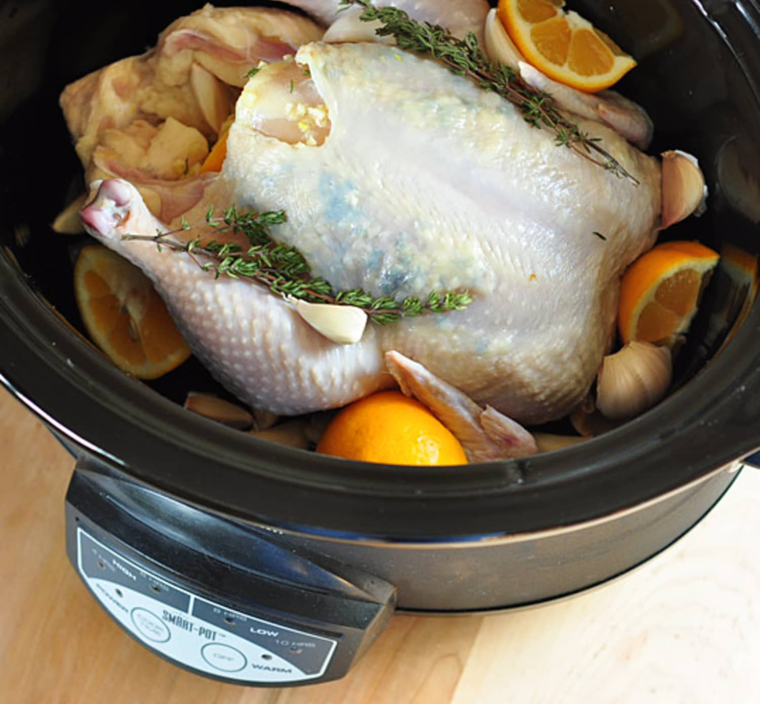 Recipe: Whole Citrus-Braised Chicken in the Slow Cooker