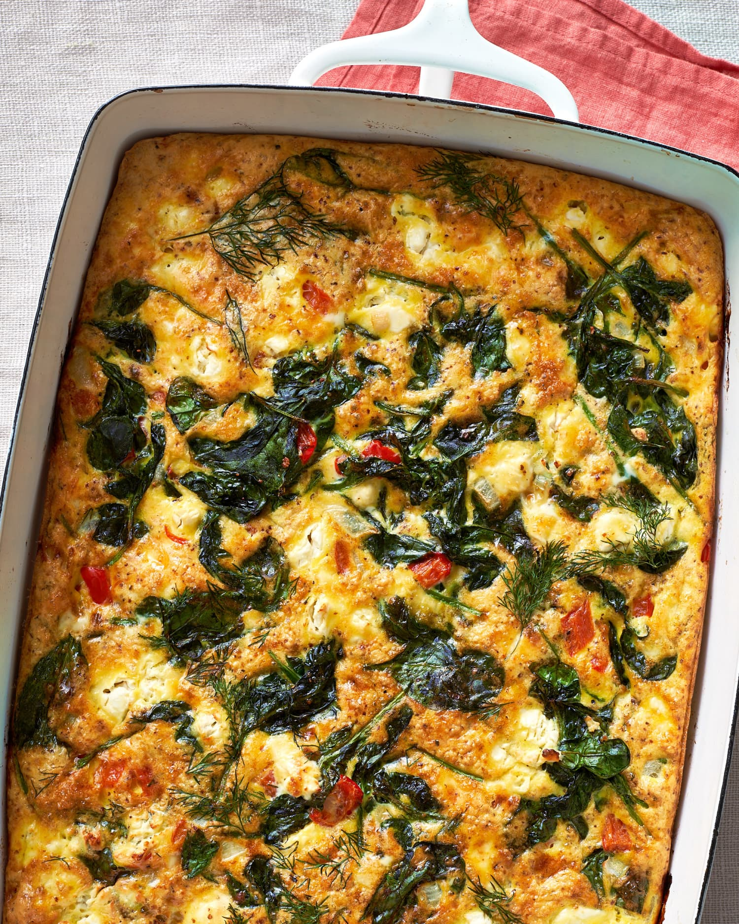 This Baked Greek Omelet Is Like Spanakopita In a Casserole