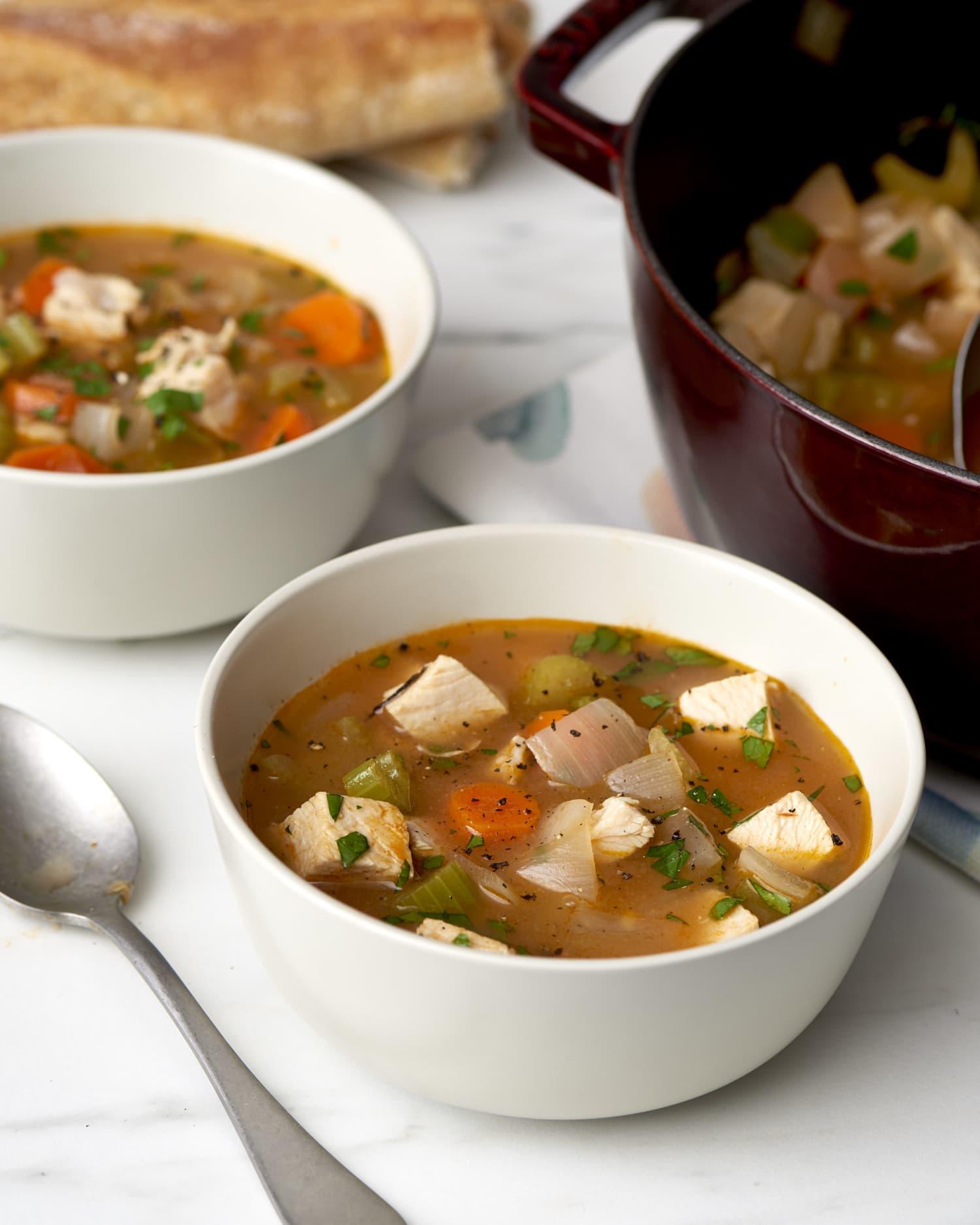 Post-Thanksgiving Turkey Vegetable Soup