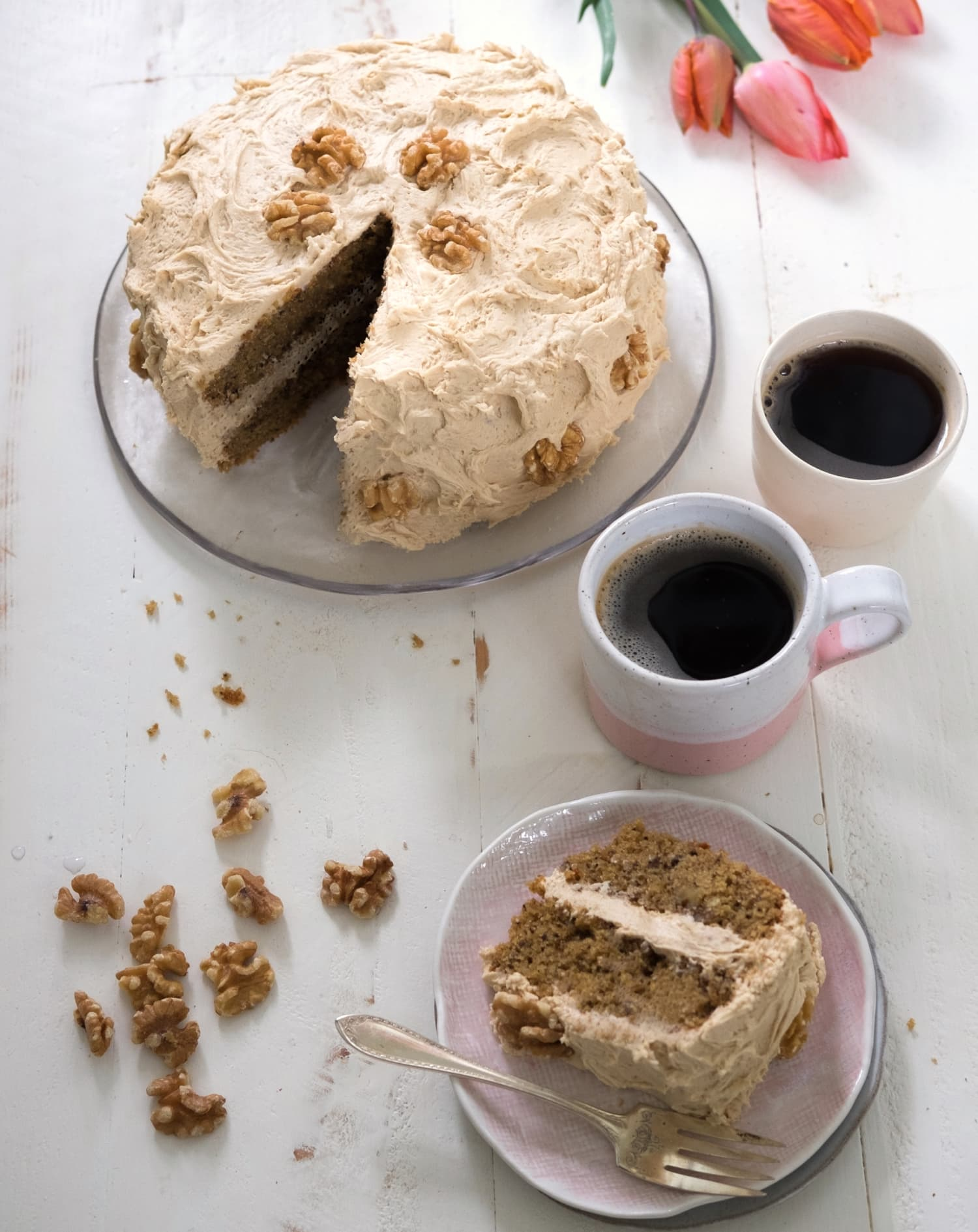 Recipe: Coffee and Walnut Cake