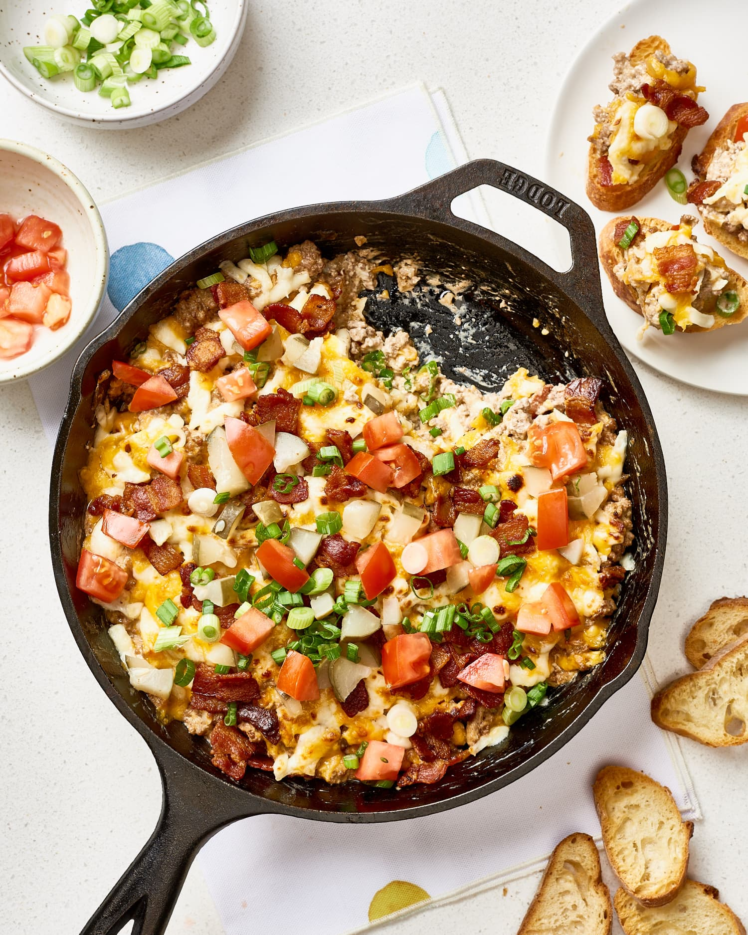 Bacon Cheeseburger Dip Is Everything You Love About the Sandwich In a Skillet