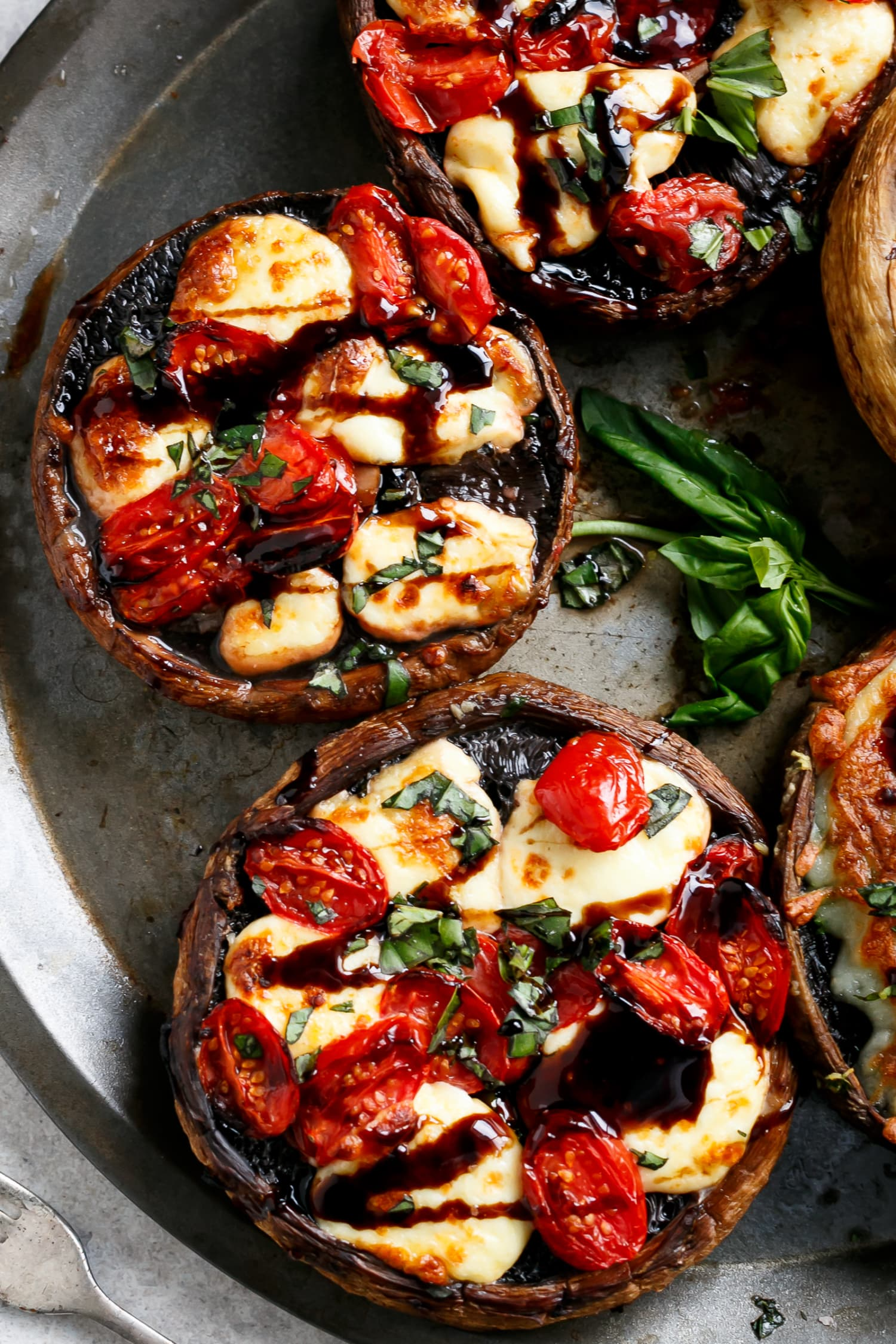 Behold the Melty Goodness of Caprese-Stuffed Mushrooms
