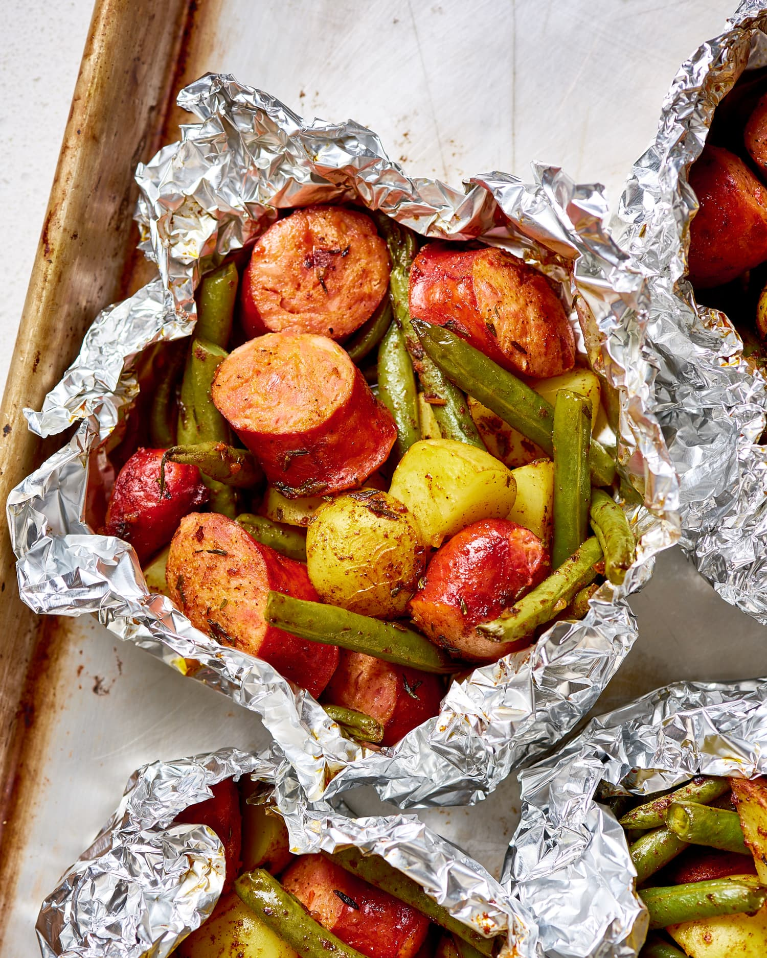 Recipe: Sausage & Potato Foil Packets