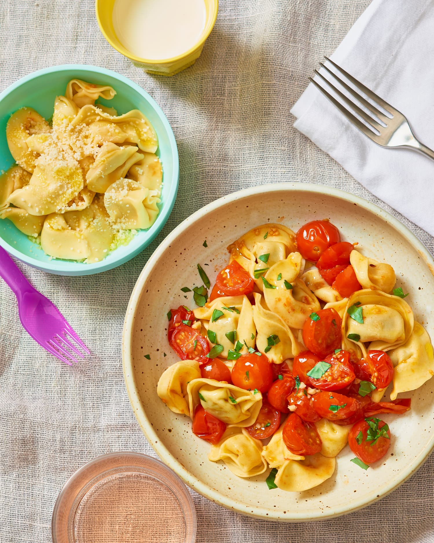 Roasted Tomatoes & Tortellini Is Buttered Noodles 2.0