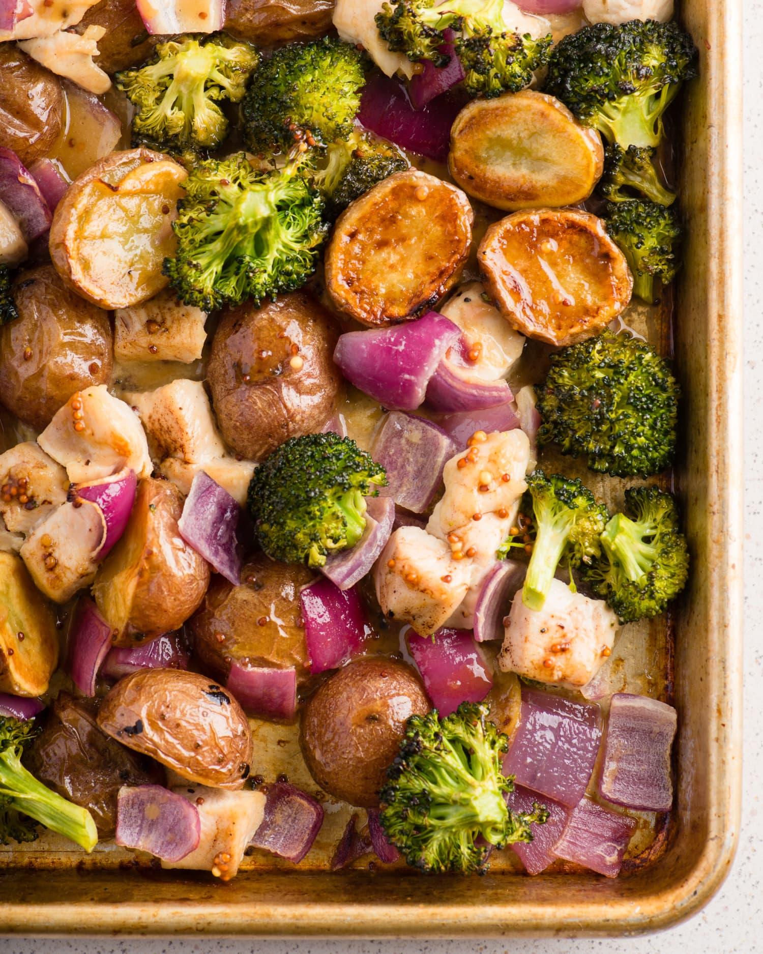 Recipe: Sheet Pan Honey-Dijon Chicken and Vegetables
