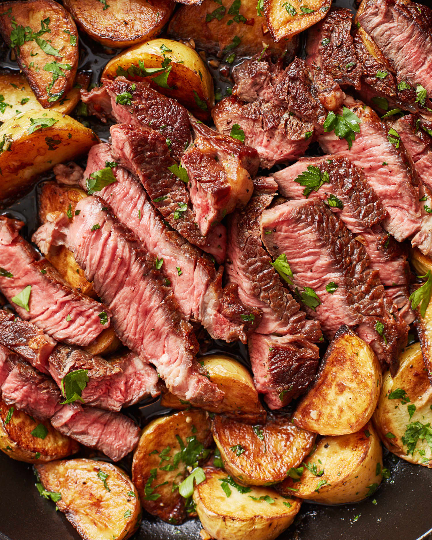Recipe: Garlic Butter Steak and Potatoes