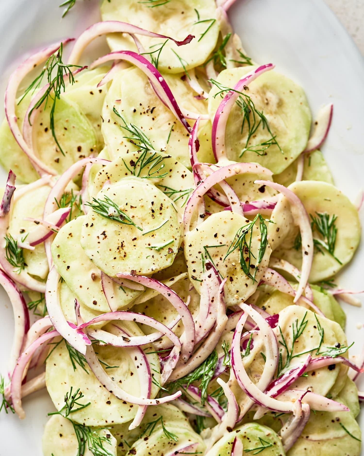 Recipe: Sour Cream and Dill Cucumber Salad