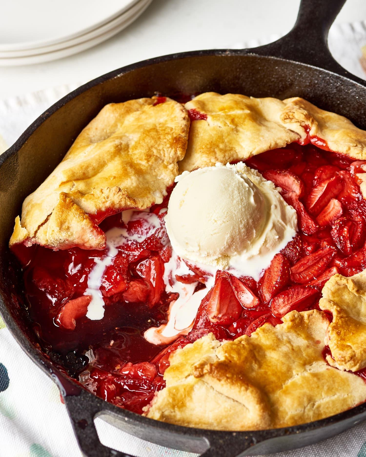 Recipe: Easy Cast Iron Strawberry Pie