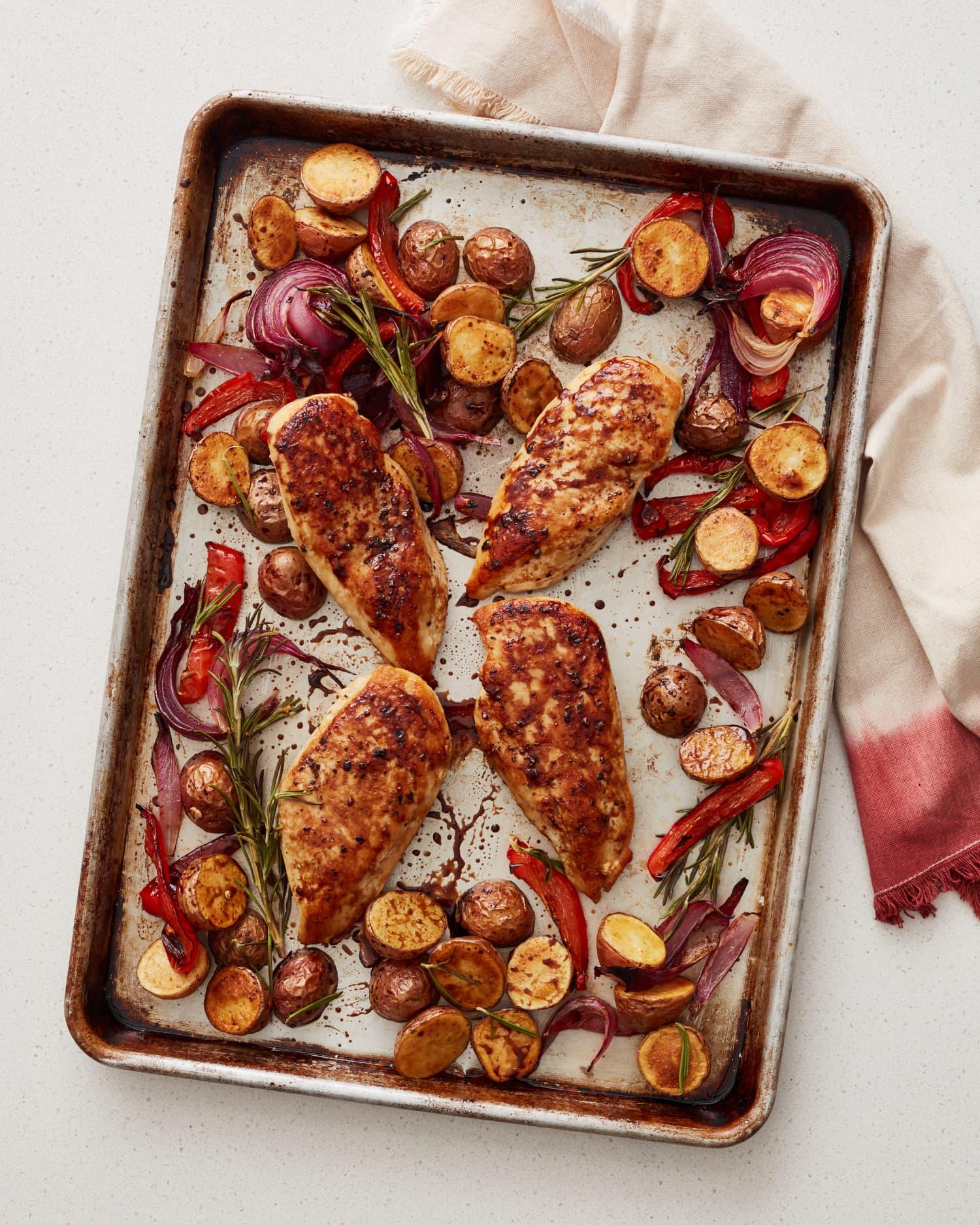 This Sheet Pan Balsamic Glazed Chicken Is a Dinner Dream
