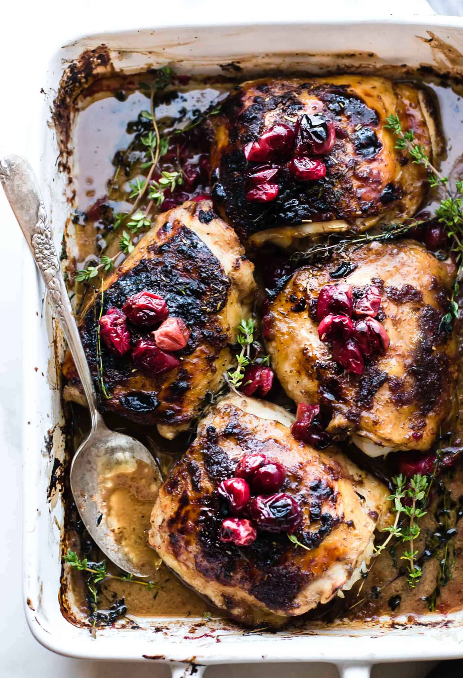 This Cranberry Balsamic Roasted Chicken Is Dinner Tonight