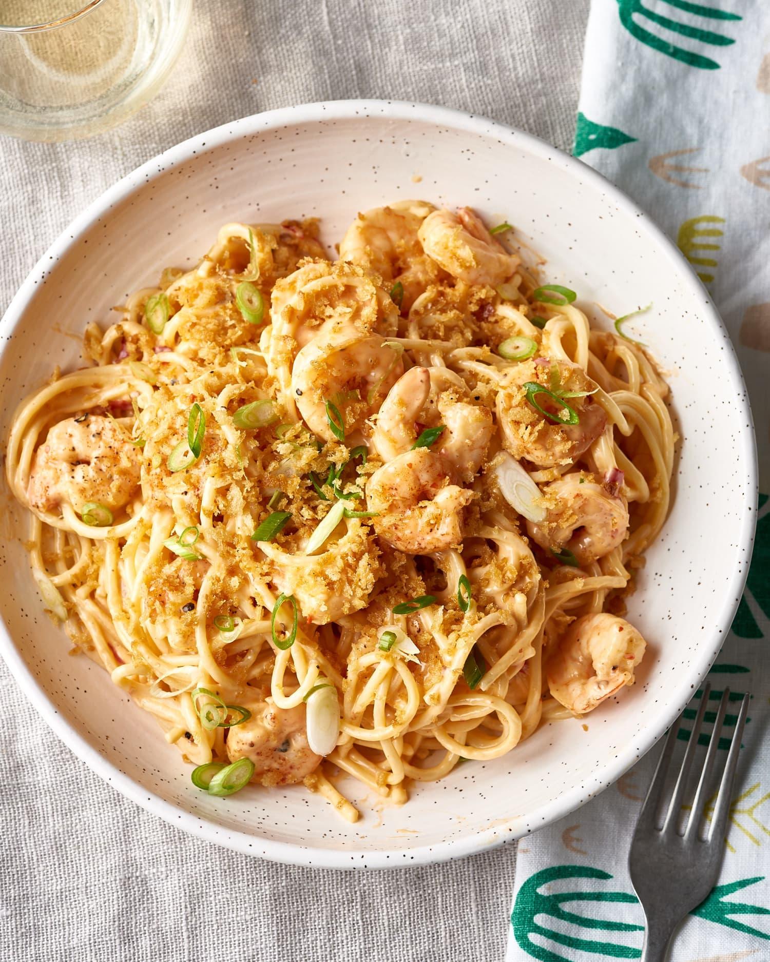 Recipe: Easy Bang Bang Shrimp Pasta