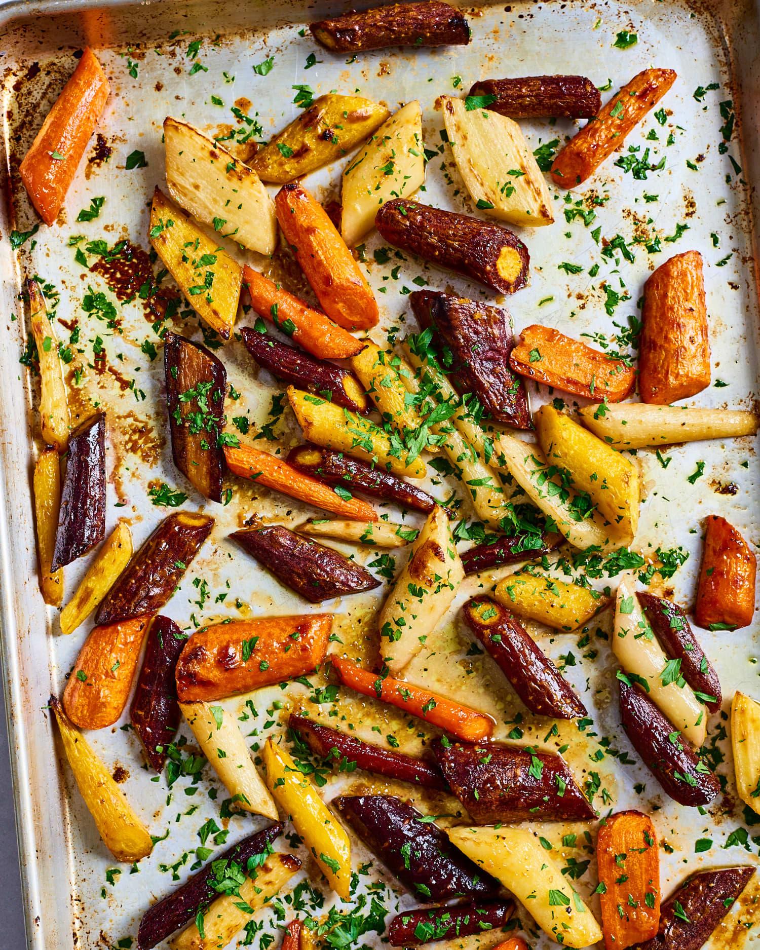Recipe: Honey-Garlic Butter Roasted Carrots