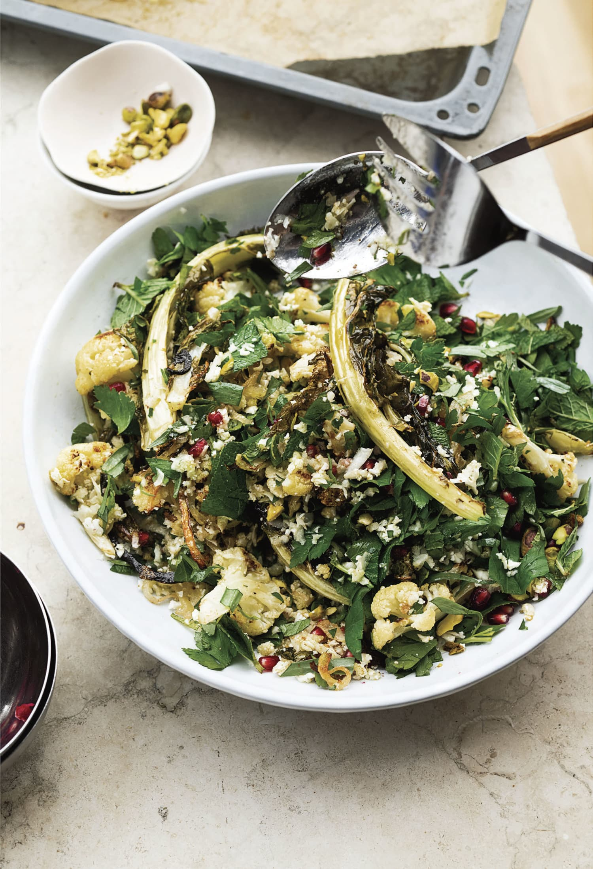 Recipe: Ottolenghi's Cauliflower, Pomegranate, and Pistachio Salad