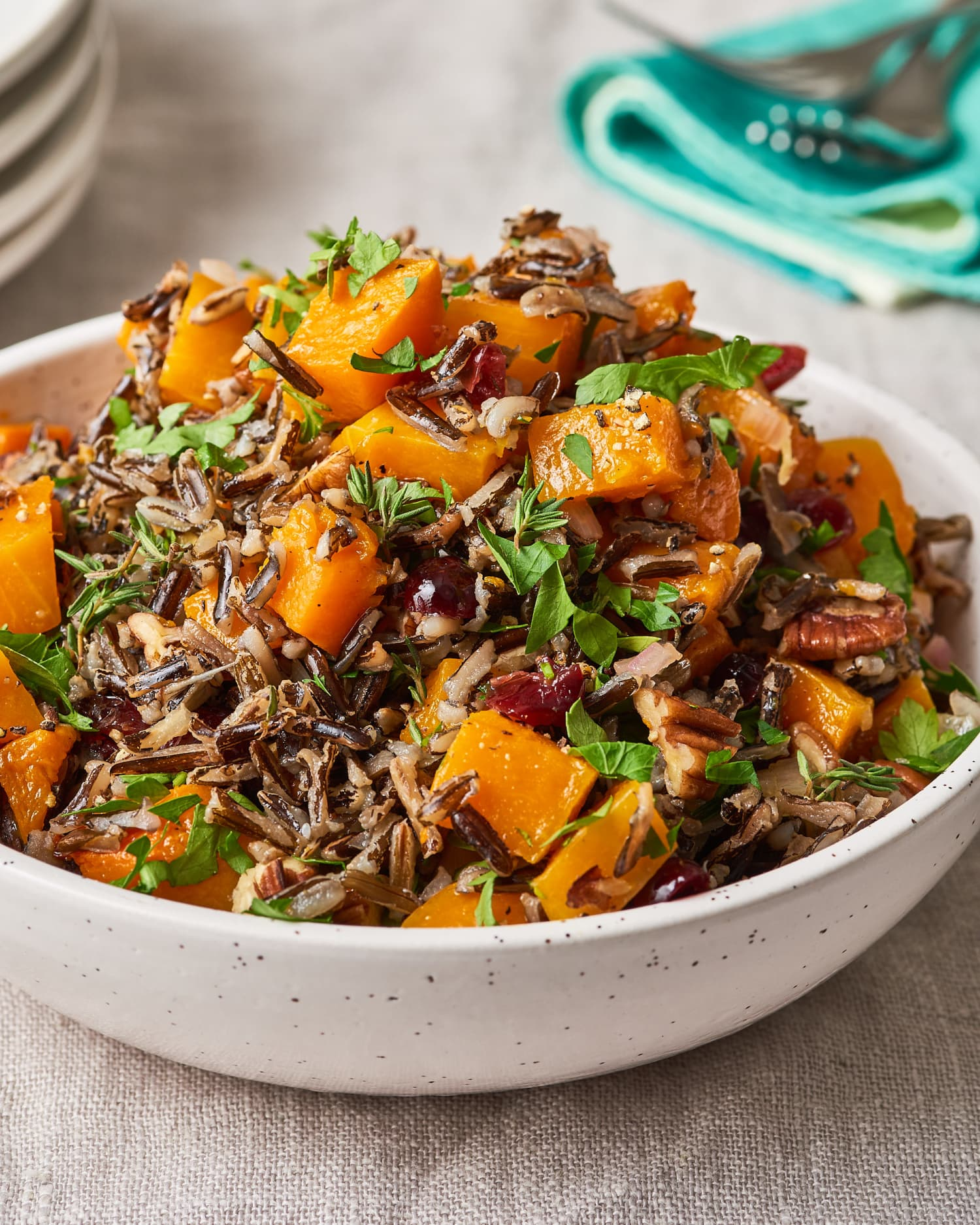 Recipe: Wild Rice Pilaf with Squash, Pecans, and Cranberries