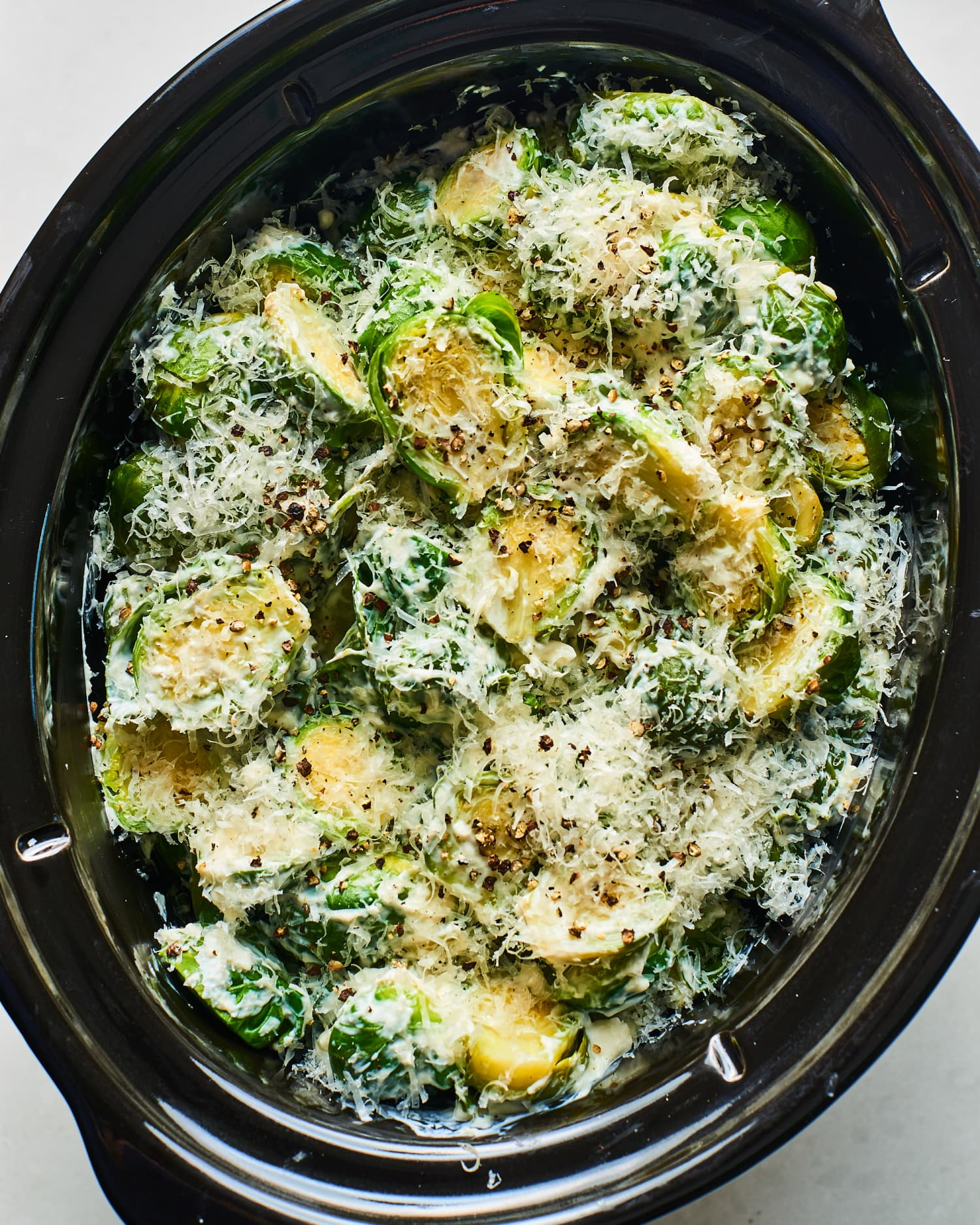 Recipe: Slow Cooker Cheesy Garlic Brussels Sprouts