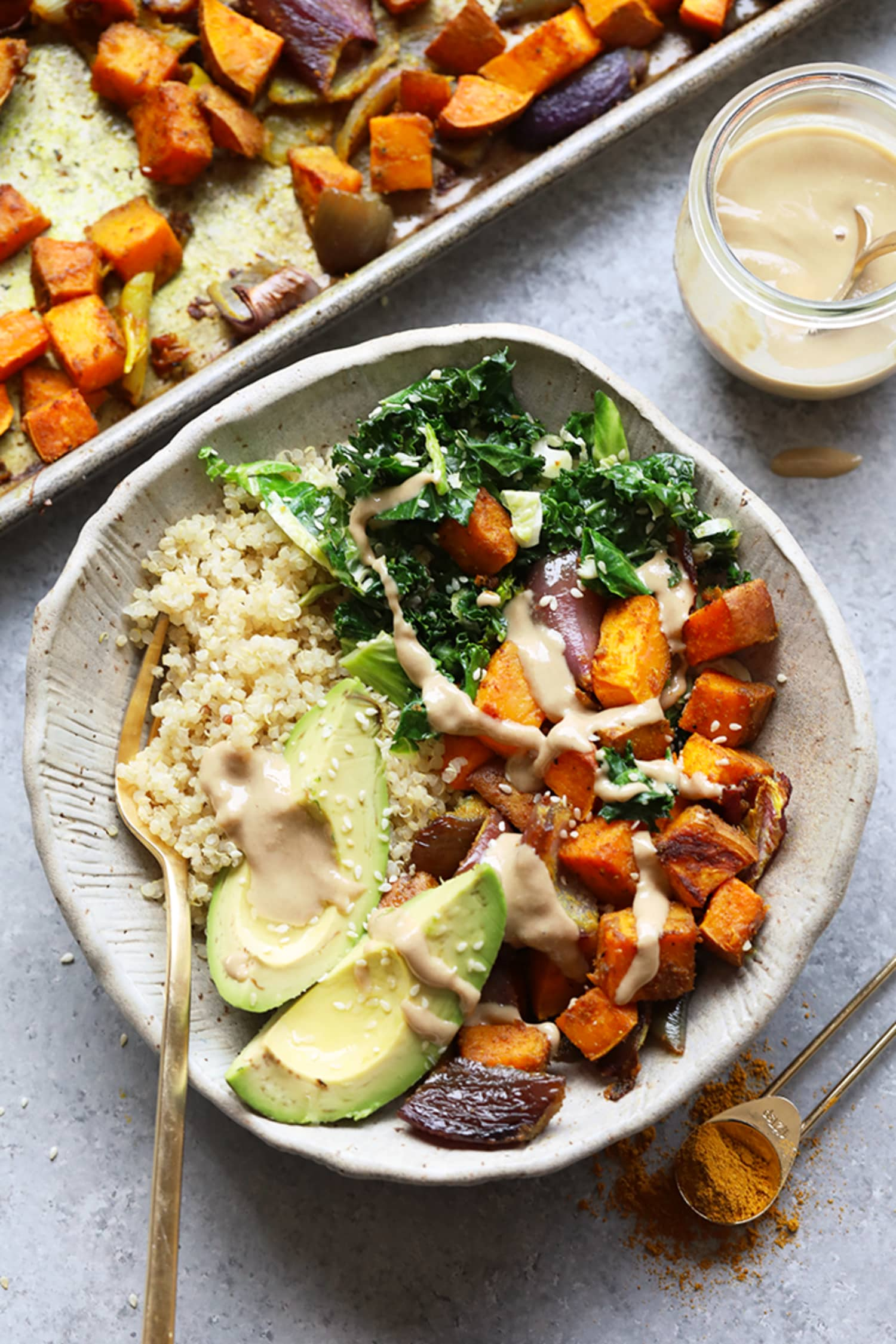 The Healthy Sweet Potato Lunch Bowl I'm Eating in January