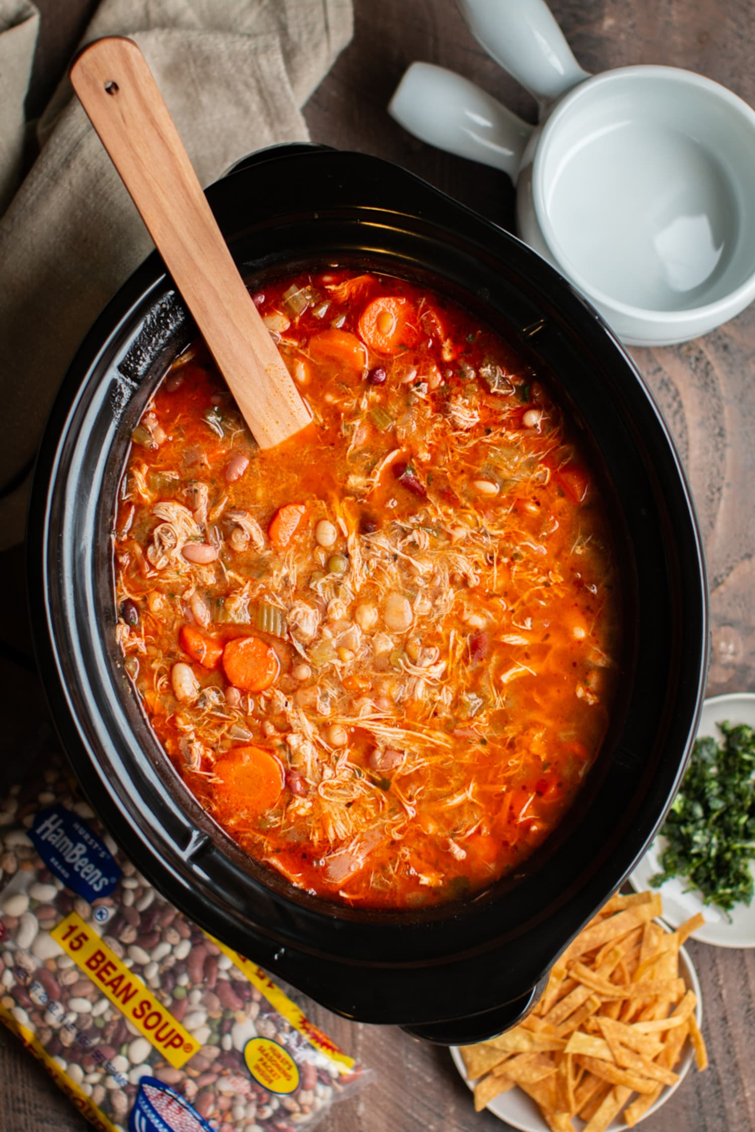 This Slow Cooker Buffalo Chicken Soup Is Deeply Satisfying