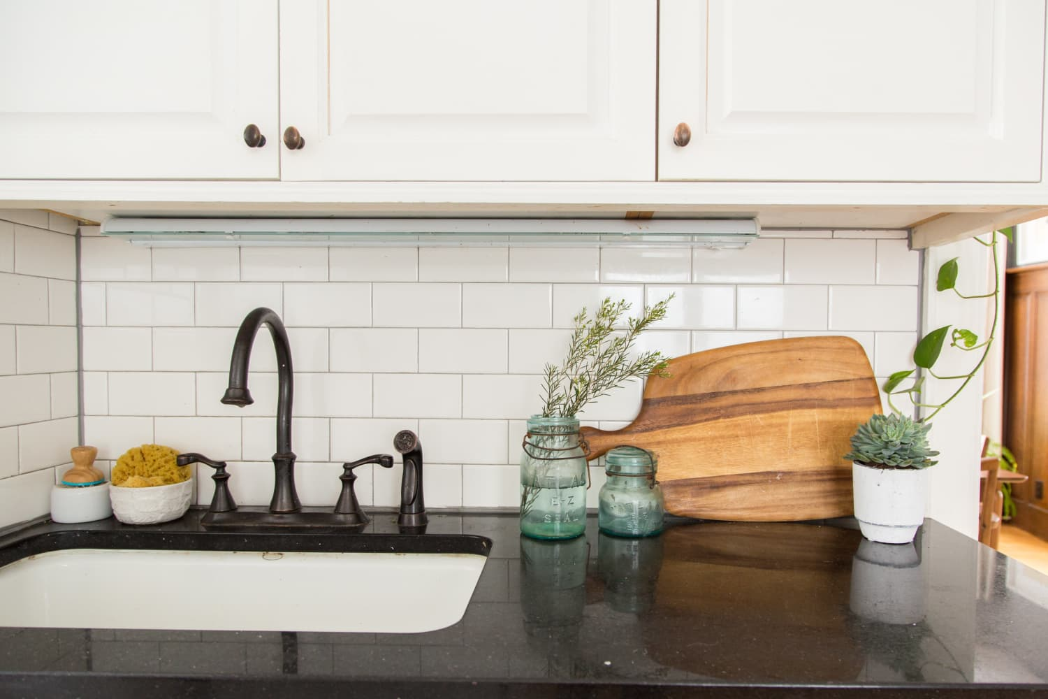 Your Grout Makes Your Kitchen Look Dirtier than It Is. Here are the Best Cheap Finds to Fix It.