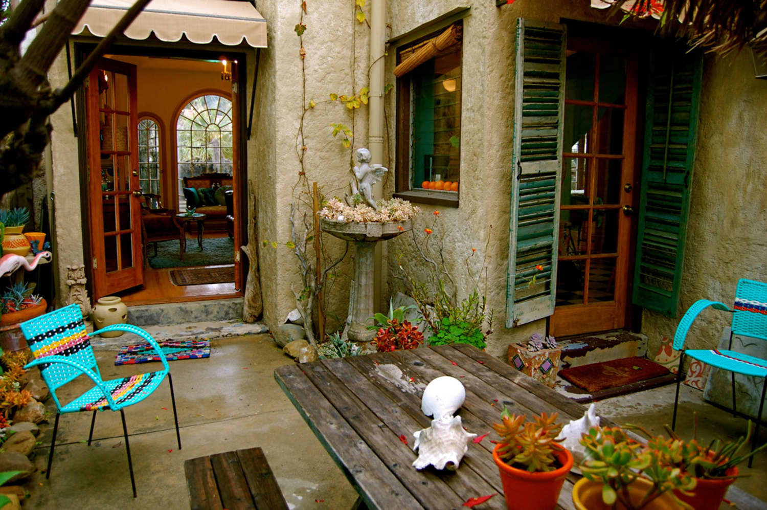 10 Just-a-Bit Bohemian Outdoor Spaces