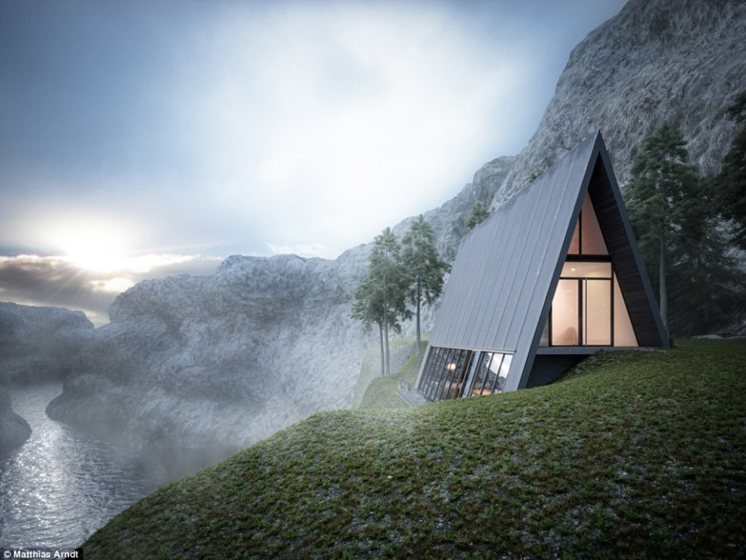 This Triangular House is Beautiful (and Terrifying)