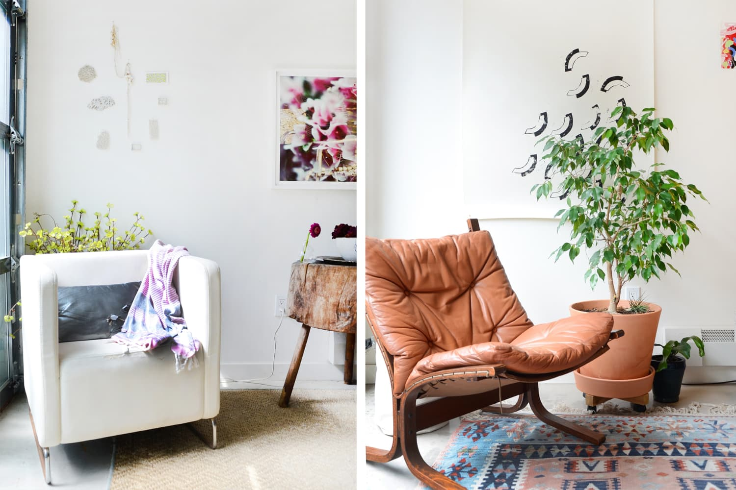 Side-by-Side: Two Identical Lofts Decorated Totally Differently