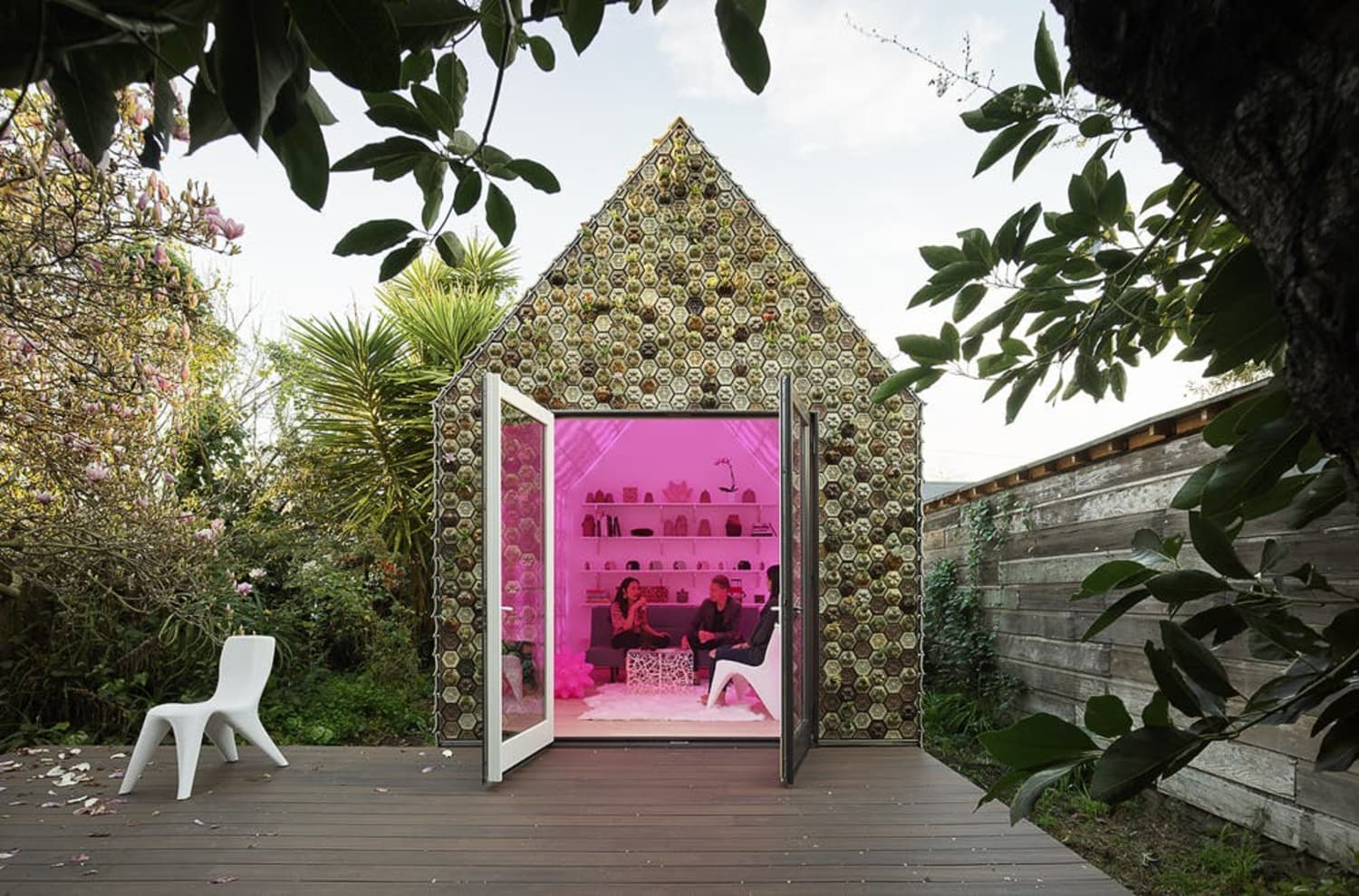 This 3D Printed Tiny House Has Actual Succulents In Its Tiles