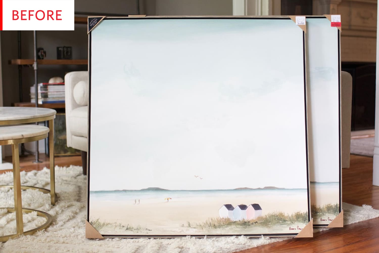 Before and After: An A+ Answer to Generic HomeGoods Artwork