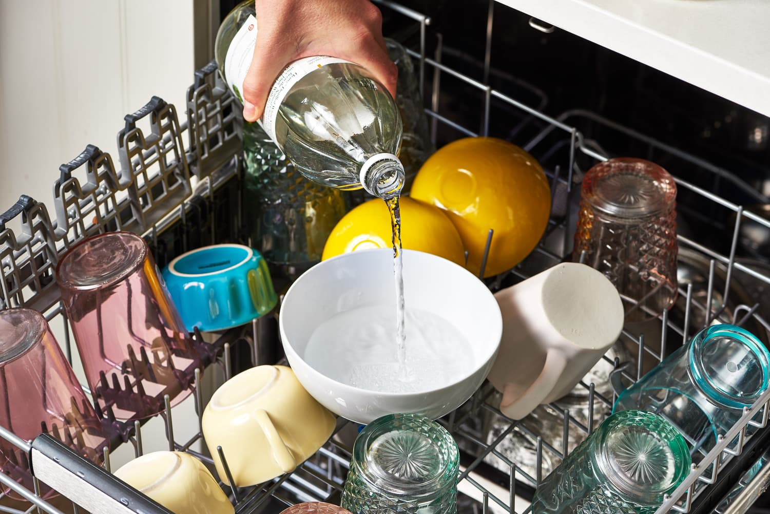 You Should Put a Bowl of Vinegar in Your Dishwasher—Here's Why