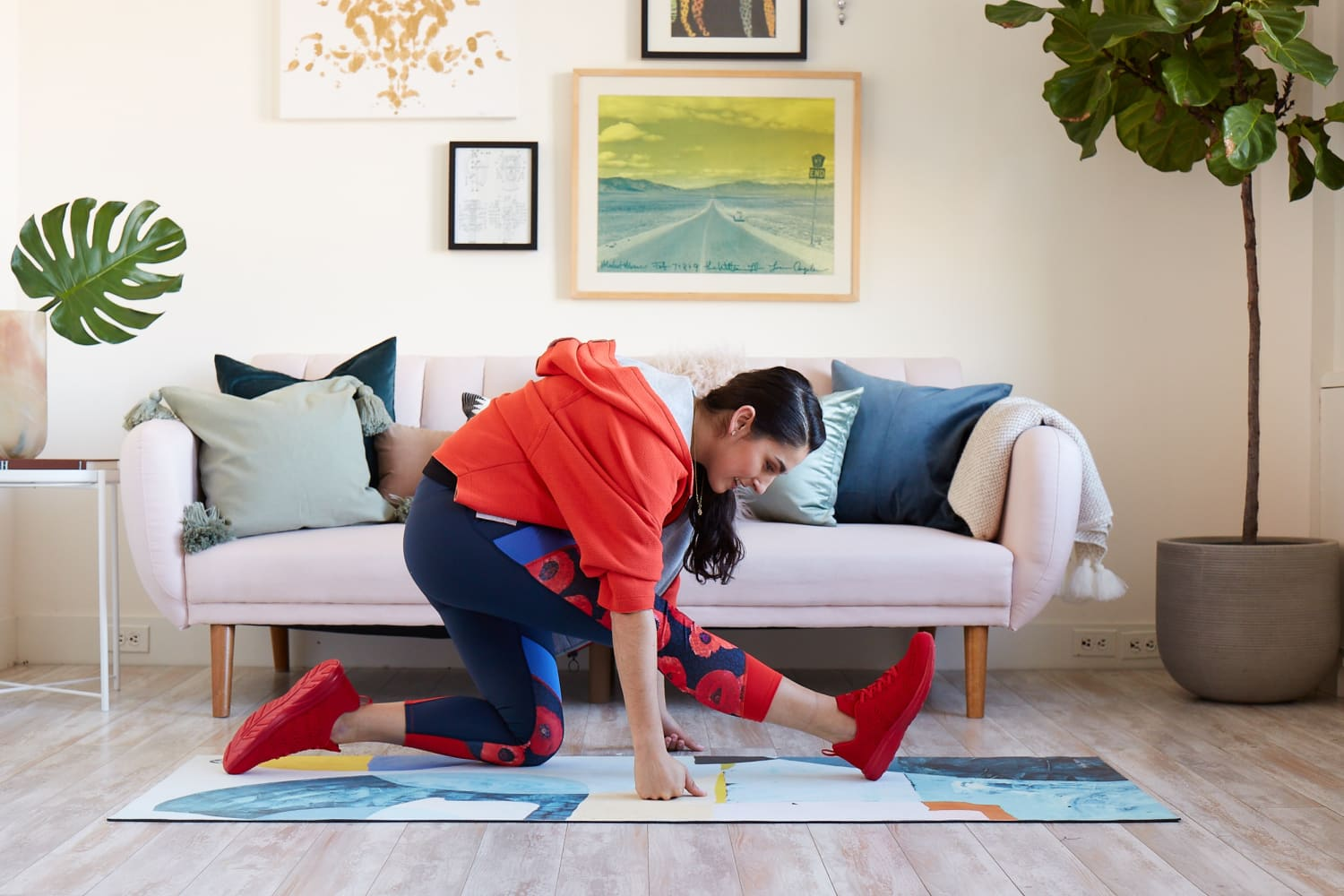 7 Simple Living Room Stretches You Should Do If You Sit at a Desk All Day